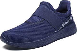 wyssutongus Men's Sneakers Ultra Lightweight Non Slip Breathable Mesh Athletic Running Walking Gym Tennis Sports Shoes Blue Size 11