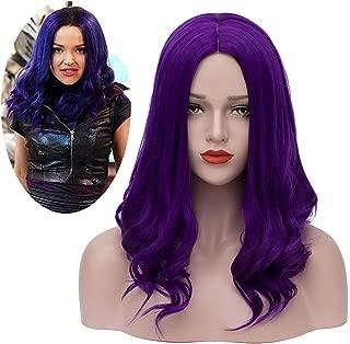 Mersi Mal Wig Cosplay Costume Long Purple Wigs Halloween Costumes for Women Girls Kids Cosplay S043PR