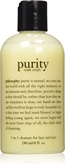 Philosophy Purity Made Simple 3 in 1 Cleanser for Face & Eyes, 8 oz.