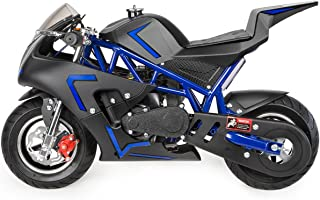 XtremepowerUS 40cc 4-Stroke Gas-Powered Mini Pocket Motorcycle Ride-on Padded Seat EPA Approved (Blue)