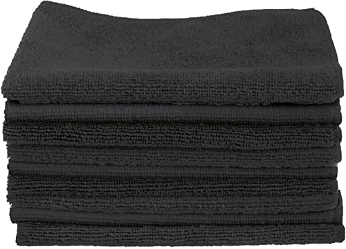 high quality Cartman Microfiber Cleaning Cloth, All Purpose Cleaning Towels,14 x 14 Inch, Pack lowest of discount 30, Black outlet online sale