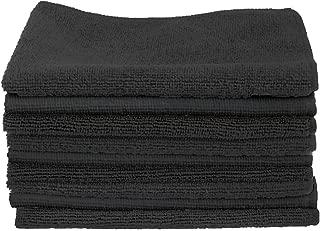 CARTMAN Microfiber Cleaning Cloth in Black Color 14 in x 14 in, 30pk (Black)