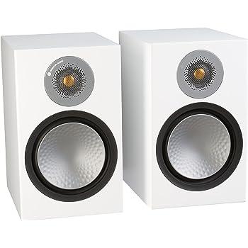 Monitor Audio Silver 100 Bookshelf Speakers - Pair (Satin White)