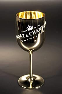 Moet Chandon Imperial Champagne Gold Acrylic Plastic Goblet Cup