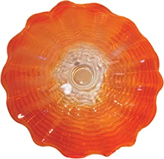 Dale Tiffany Favrile Glass Collection Wall Art Decor, Red/Orange/Amber