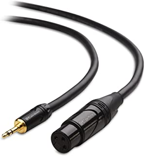 Cable Matters (1/8 Inch) Unbalanced 3.5mm to XLR Cable (XLR to 3.5mm Cable) Male to Female 6 Feet