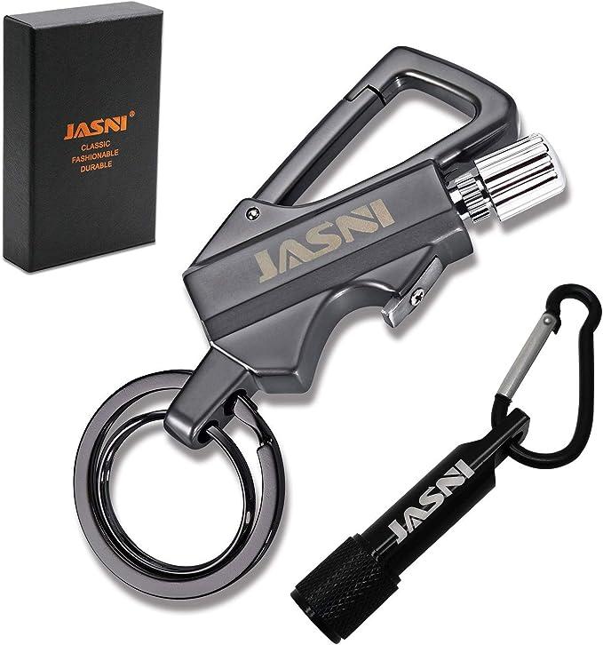 Cherokee Key Ring Black Keychain Flashlight Bottle Opener