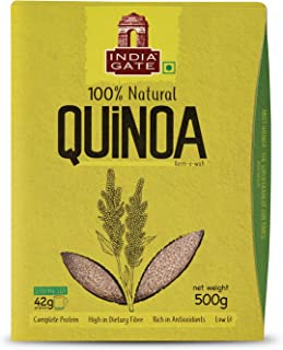 INDIA GATE Natural Wholegrain Quinoa - High Protein High Fibre   Enriched with Antioxidants   Low GI, 500 gm