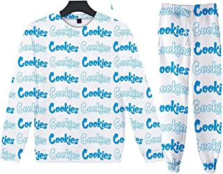 Round Neck Pullover Hoodie Set Cookies Animation Peripheral Fashion Casual 3D Printing Men and Women