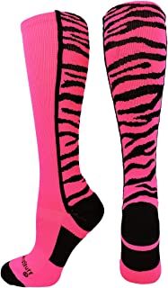 MadSportsStuff Crazy Socks with Safari Tiger Stripes Over The Calf Socks (Multiple Colors)