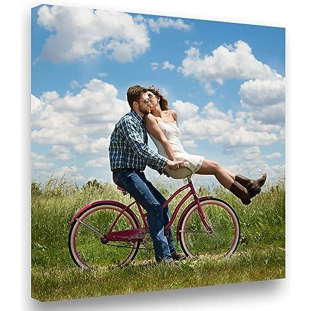 Lienzo Personalizado con Foto y(o) Texto. Personalizalo Online. Impreso en Calidad fotográfica. Lienzo Tejido (300g) Tamaño 50x50