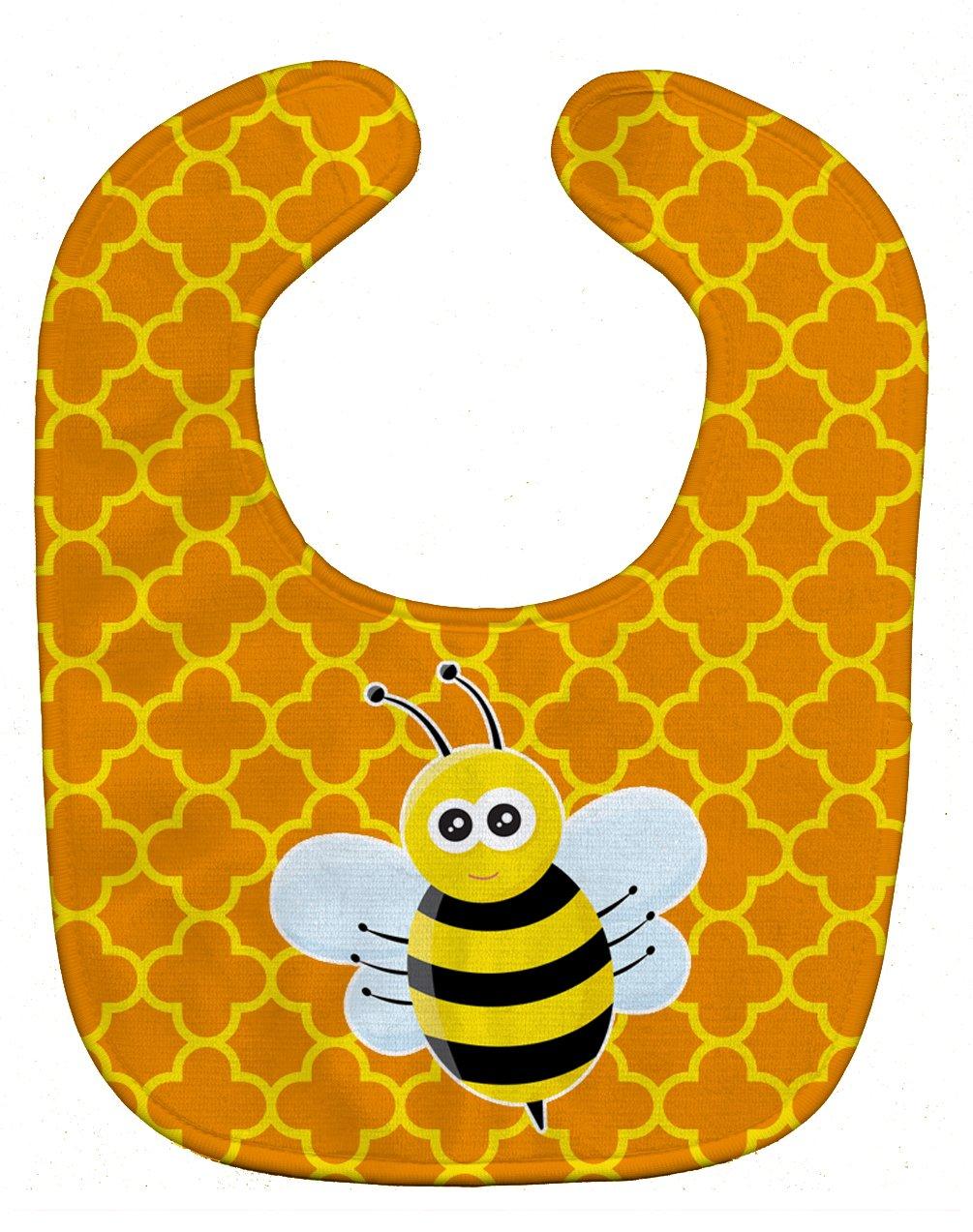Caroline's Treasures BB8596BIB Bee on Quatrafoil Baby Bib, 10 x 13