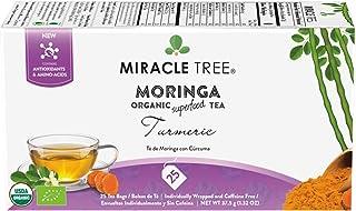 Sponsored Ad - Miracle Tree - Organic Moringa Superfood Tea, 25 Individually Sealed Tea Bags, Turmeric