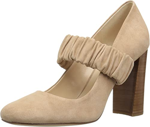 Nine West Wohommes Decadent Suede Pump, Light Natural, 8 M US