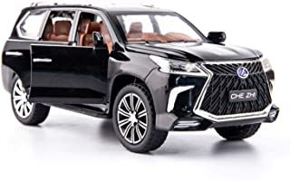 BDTCTK 1/24 Lexus 570 Off-Road in Luxury SUV Model Car, Zinc Alloy Pull Back Toy car with Sound and Light for Kids Boy Girl Gift(Black)