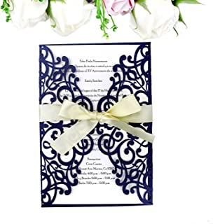 Best blue and gold baptism invitations Reviews