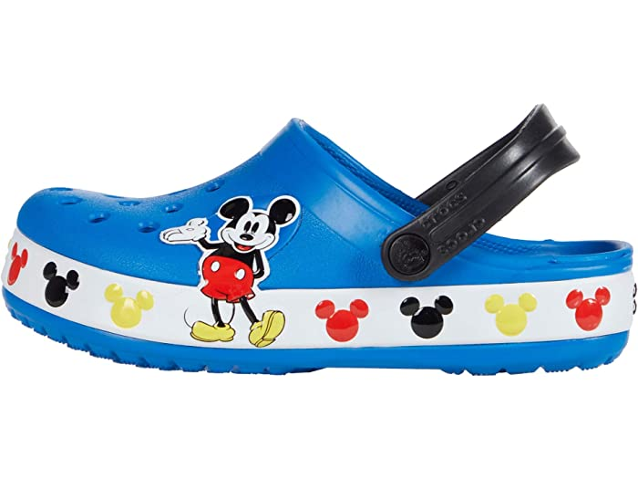 C12 M US Little Crocs Unisex Kids Disney Mickey Mouse Clog|Water Shoe for Toddlers Boys Girls Bright Cobalt