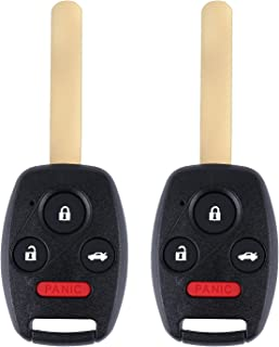 $21 » Keyless Entry Remote Uncut Car Ignition Key Fob Replacement for Vehicles 2003-2007 Honda Accord That Use 4 Buttons OUCG8D-...