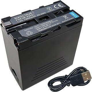 SIXOCTAVE NP-F950 NP-F960 NP-F970 互換バッテリー [2ポート搭載USB充電対応 触れるだけで残量確認可能 ] ソニー HDR-FX1 / HVR-Z7J / HVR-Z5J / HVR-V1J / HVR-HD...