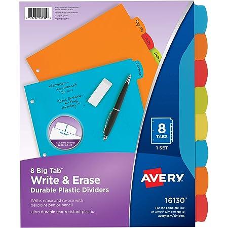 Averyreg; Style Edge Plastic Insertable Dividers AVE11292