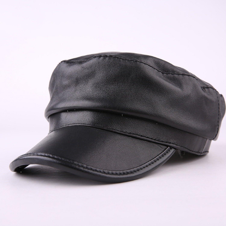 Men Hat leather Sheepskin Gender leisure Wa cap Flat Ranking TOP10 hat National uniform free shipping