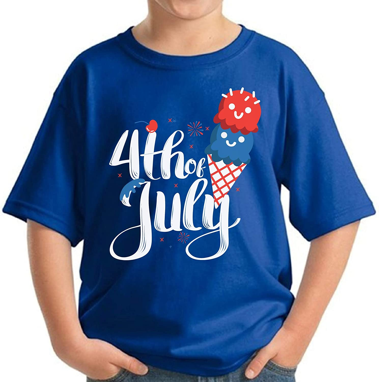 Awkward Styles Youth T Shirt 4th of July Clothes Ice Cream Lovers Fourth of July Shirt
