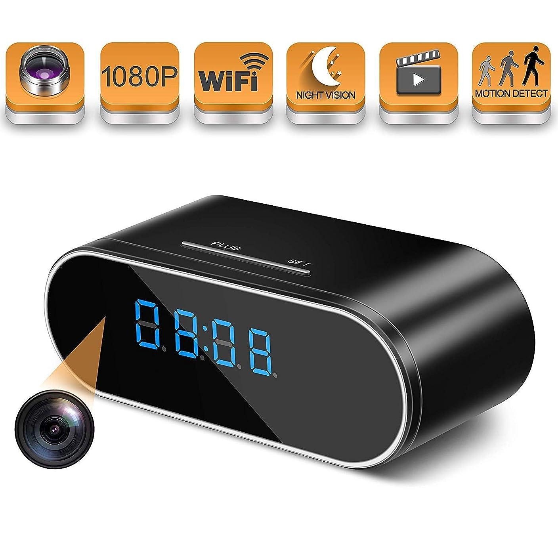 きちんとした気分が良いアトラス超小型カメラ 1080 p時計隠しカメラ、隠しスパイカメラワイヤレス隠しワイヤレスIP監視カメラ用ホームセキュリティモニタービデオレコーダー140°角度ナイトビジョンモーション検出 (Color : +32G memory card)