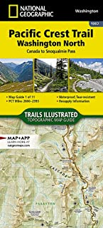 Pacific Crest Trail, Washington North [Canada to Snoqualmie Pass] (National Geographic Topographic Map Guide)