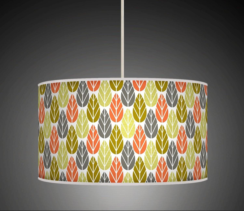 ofreciendo 100% 50cm (20 ) hoja hojas Coral verde gris gris gris estilo Retro hecho a mano Giclée estilo tela impresa, lámpara colgante 625  productos creativos