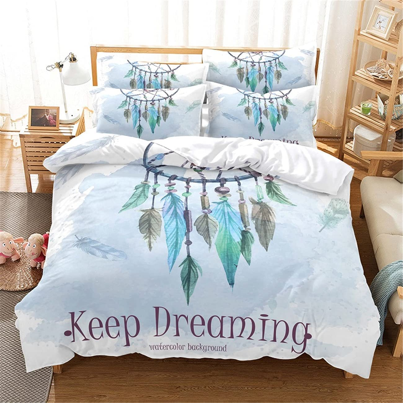 Excellence Dream Net Feather Digital Printing Quilt Cover Bedding Bedroom Jacksonville Mall