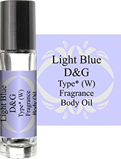 LIGHT BLUE TYPE (W) (PURE AND UNCUT) BODY OIL 1/3 ROLLER BOTTLE
