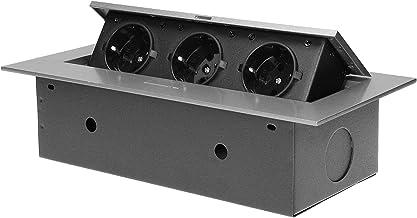 Orno AE-1371(GS) Inschuifbare Stekkerdoos 3-Voudig -3600W - Schuko (Zilver)