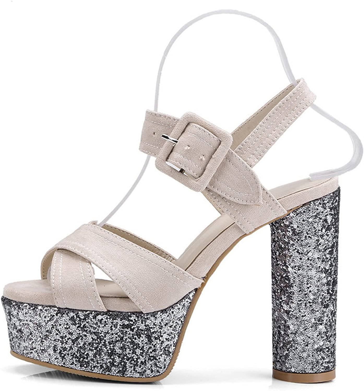 Summer shoes Woman Thick High Heel Platform Pumps Ladies Dress Party Pumps Casual shoes Woman