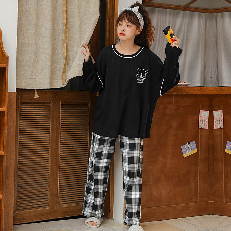 hengGuKeJiYo Weihnachten gerippte Pyjamas Outfits Langarm Soild Kid Boys Girls Pijamas Top Pants Child Pyjamas Nachtw/äsche Nachtw/äsche Kleidung