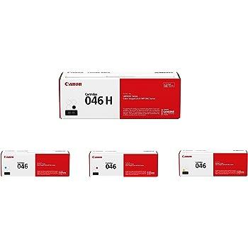 Canon 046 Toner Cartridge Set - High Yield Black and Standard Yield Cyan, Magenta and Yellow - 1247C001, 1248C001, 1249C001, 1254C001