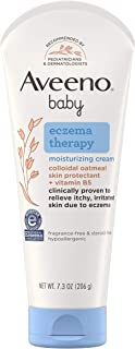 Aveeno Baby Eczema Therapy Moisturizing Cream, Natural Colloidal Oatmeal & Vitamin B5, Moisturizes & Relieves Dry, Itchy, ...
