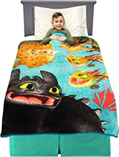 "Franco Kids Bedding Super Soft Plush Throw, 46"" x 60"", How to Train Your Dragon,A39088"