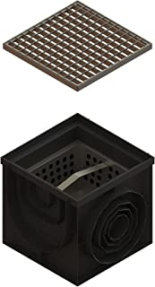 Standartpark - 16x16 Inch Catch Basin. PPE Plastic with Galvanized Stamped Steel Grate and Sediment Basket Included.