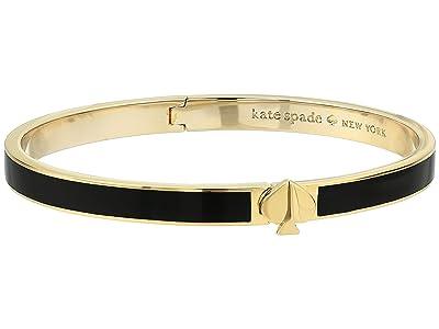 Kate Spade New York Heritage Spade Thin Enamel Spade Bangle (Black) Bracelet