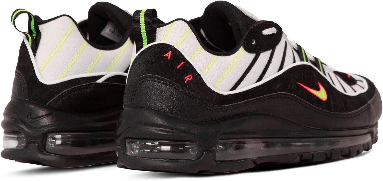 Nike Air Max 98, Chaussures d\'Athlétisme Homme Platinum Tint Black 015