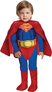 Boy's Superman Muscle Chest Toddler Fancy Dress Halloween Costume