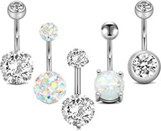 Belly Button Rings Surgical Steel 14gauge Belly Rings for Women Navel Ring Belly Button..