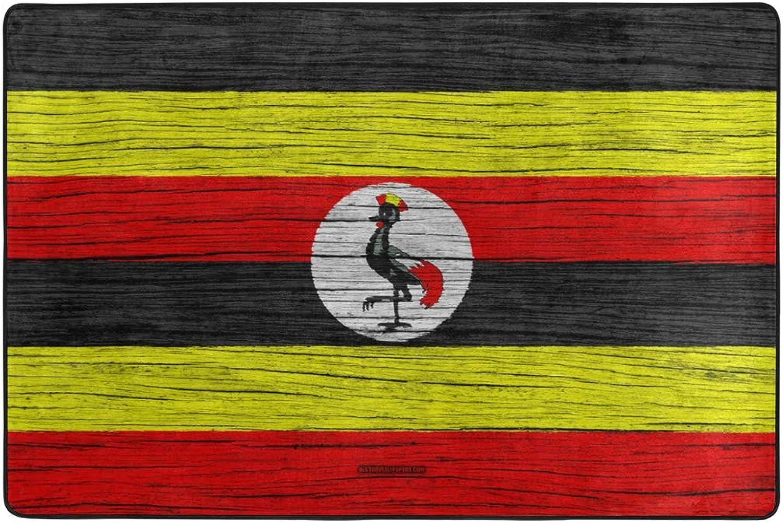 Flag of Uganda Africa Dormat Decor Indoor Outdoor Welcome Door Anti Skid Mat Rug for Home Office Bedroom