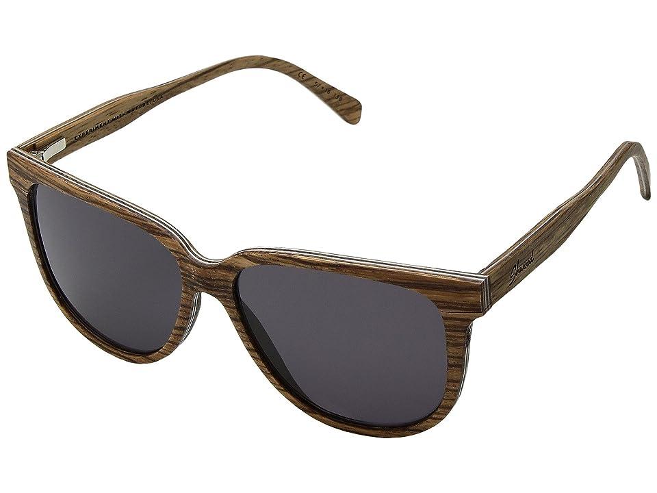 Shwood Mckenzie Wood Sunglasses (Zebrawood/Grey) Sport Sunglasses