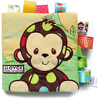NUOLUX Baby Cloth Book Baby Intelligence Early Learning Educational Toys Book Baby Toy Gift (Monkey)