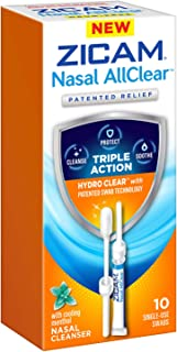 ZICAM Nasal AllClear Triple Action Nasal Cleanser, 10 Count
