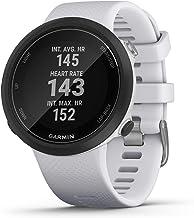 Garmin Swim 2 ، ساعت هوشمند شنای GPS برای استخر و آب آزاد ، ضربان قلب زیر آب ، فاصله رکورد ، سرعت ، تعداد و نوع سکته مغزی ، سفید