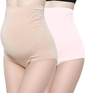 Surewin Women's Seamless Over Bump Maternity Underwear high Waist Pregnancy Panties