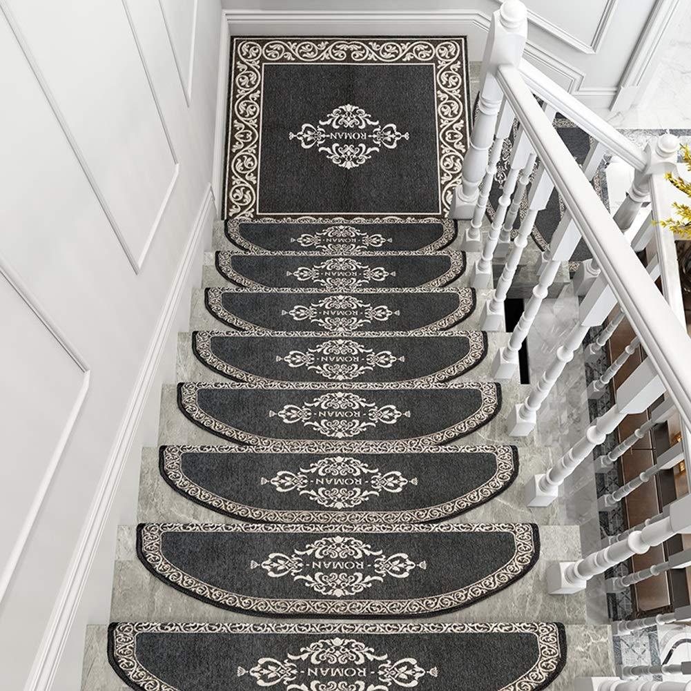 QFLY Alfombras Juego de Alfombras Adhesivas Antideslizantes para Alfombras de Escalera Alfombras Escalera Alfombra Art Step Morden Abstracto Moderno Hogar Dector (Color : Gray, Size : Arc-24X65cm): Amazon.es: Hogar