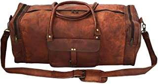 "23"" Vintage Leather Duffle Bag Overnight Weekender Travel Luggage Handbag Hold-All Bag"